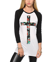 Empyre Sawyer Floral Cross Baseball T-Shirt