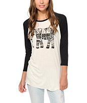 Empyre Sawyer Placed Tribal Elephant Baseball Tee