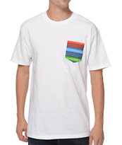 Empyre Serape White Pocket Tee Shirt