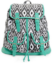 Empyre Serene Mint & Tribal Rucksack Backpack