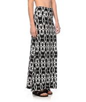 Empyre Shayla Black Ikat Maxi Skirt