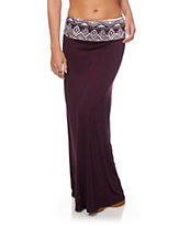 Empyre Shayla Blackberry Tribal Waist Maxi Skirt