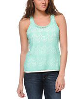 Empyre Shea Mint Crochet Tank Top