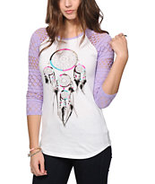 Empyre Sheffield Dreamcatcher Eyelet Baseball Tee