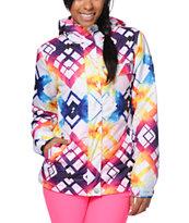 Empyre Showcase Tipsy White Faux Snowboard Jacket