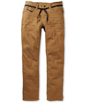 Empyre Skeletor Dark Khaki Denim Skinny Jeans