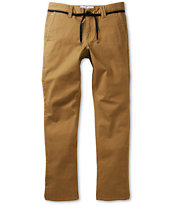 Empyre Skeletor Dark Khaki Skinny Stretch Chino Pants