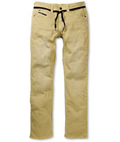 Empyre Skeletor Khaki Denim Skinny Jeans