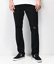 Empyre Skeletor Knee Slit Black Skinny Jeans
