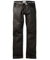 Empyre Skeletor Waxed Black Slim Jeans