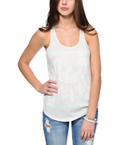 Empyre Skull Dreamcatcher Mint & White Stripe Tank Top