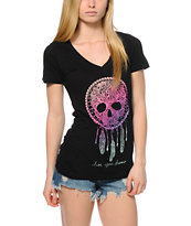 Empyre Skull Dreamcatcher V-Neck T-Shirt