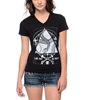 Empyre Snake Triangle Black V-Neck T-Shirt
