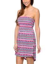 Empyre Sonia Multicolor Tribal Print Strapless Dress