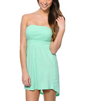 Empyre Sonia Neon Mint Strapless Dress