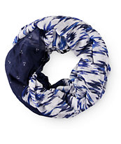 Empyre Stacy Blue Tribal Mixed Infinity Scarf