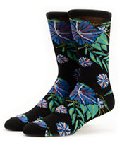 Empyre Stomp Black Floral Crew Socks