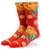 Empyre Stomp Red Floral Crew Socks