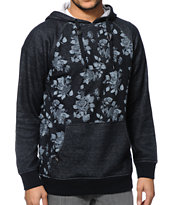 Empyre Stones Black Floral Pullover Hoodie