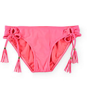 Empyre Sunkissed Neon Coral Side Tie Bikini Bottom