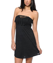 Empyre Susie Charcoal Fringe Strapless Dress
