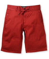 Empyre Take A Walk Burgundy Chino Shorts