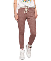 Empyre Tawny Port Speckle Banded Jogger Pants