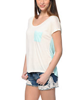 Empyre Teagan Cream & Anchor Print Dolman T-Shirt