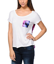 Empyre Teagan Cream & Galaxy Print Dolman T-Shirt