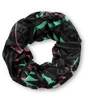 Empyre Techno Zebra Black & Multicolor Infinity Scarf