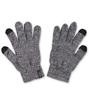Empyre Techy Heather Black Knit Gloves
