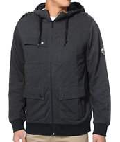 Empyre Teleport M65 Black & Herringbone Fleece Jacket