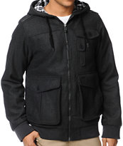 Empyre Tendence Charcoal Wool Bomber Jacket