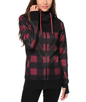 Empyre Tenney Burgundy Buffalo Plaid Tech Fleece Jacket