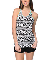 Empyre Terri Tribal Print Ladderback Tank Top
