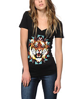 Empyre Textile Tiger V-Neck T-Shirt