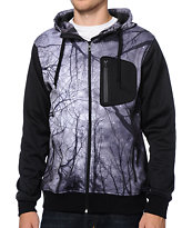 Empyre The Riot Tree Print Tech Fleece Hooded Jacket