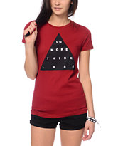 Empyre Think Less Burgundy Tee Shirt