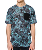 Empyre Tilson Green Tie Dye Pocket Tee Shirt