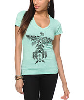 Empyre Tribal Bird Motif V-Neck T-Shirt