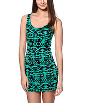 Empyre Tribal Print Bodycon Dress