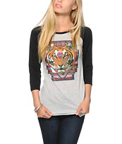Empyre Tribal Tiger Baseball T-Shirt