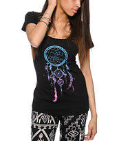 Empyre Triple Dreamcatcher Black Tee Shirt