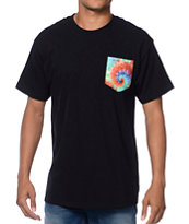 Empyre Trippy Mane Black Pocket Tee Shirt