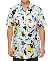 Empyre Tucan Dance Geo Print Button Up Shirt