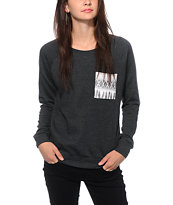 Empyre Turner Feather Pocket Crew Neck Sweatshirt