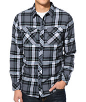Empyre Twenty Charcoal & Black Plaid Long Sleeve Flannel Shirt
