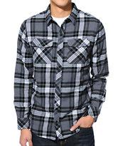 Empyre Twenty Charcoal & Black Plaid Long Sleeve Flannel Shirt