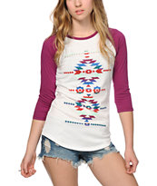 Empyre Underwood Colorful Tribal Baseball Tee