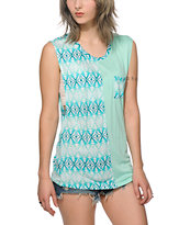 Empyre Warren Mint Tribal Muscle Tee